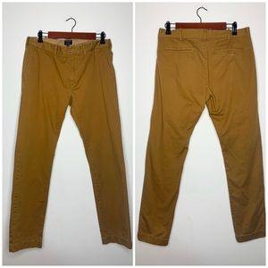 J. Crew The Driggs Classic Khaki Chino Pants Flat